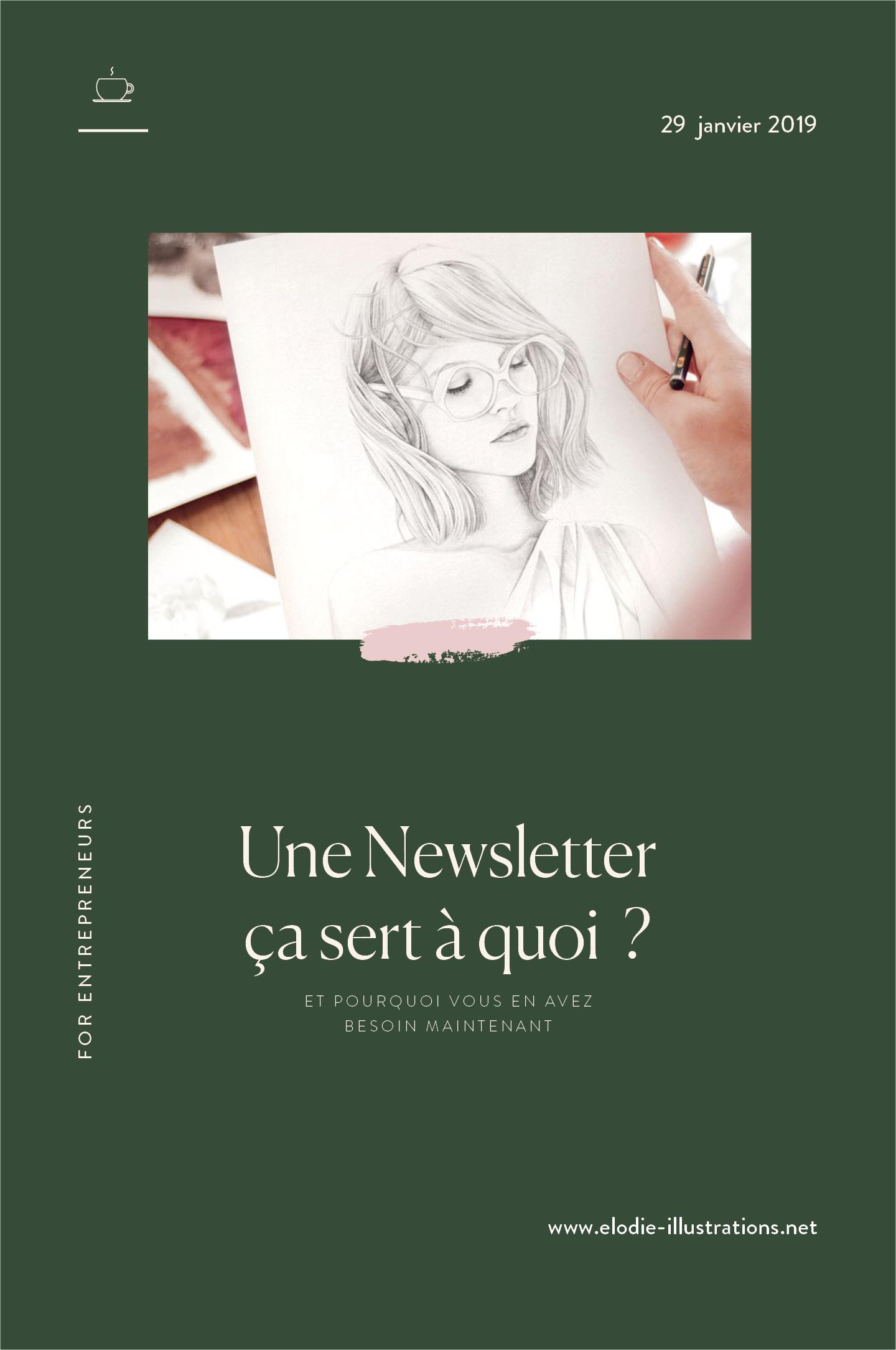 A quoi sert une newsletter ? Illustrateurs et graphistes, dans cette article je vous donne 5 raisons d'en créer une aujourd'hui. - Cliquez pour découvrir l'article