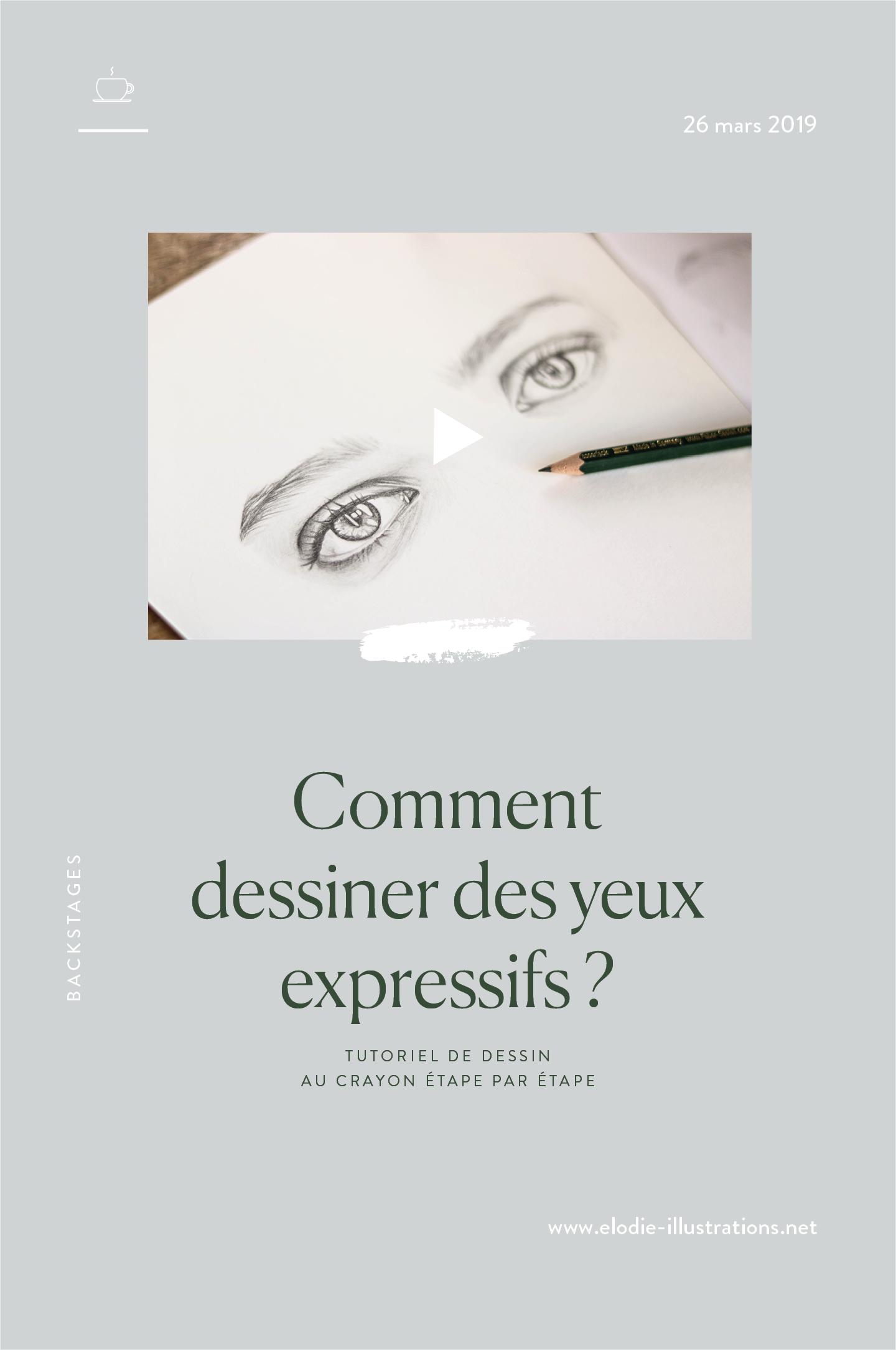 Comment dessiner des yeux expressifs ? Cliquez pour découvrir ma méthode pas à pas pour dessiner des yeux réalistes au crayon de papier.
